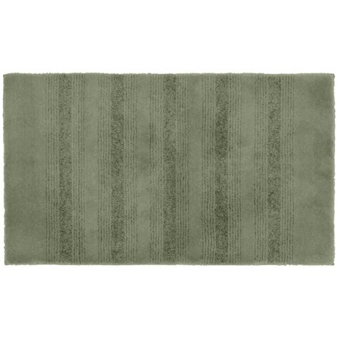 Garland Rug Essence Deep Fern 24 In X 40 In Washable Home Depot Bathroom Rugs