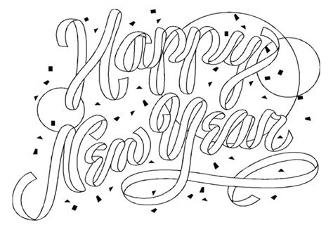 Free Printable New Years Coloring Pages For Kids New Year Coloring Page