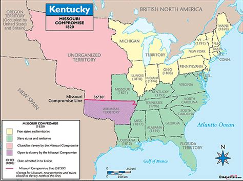 map missouri and kentucky kentucky historical map missouri compromise 1820 by