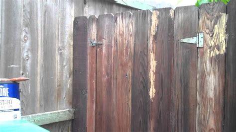 painting fence  rust oleum restore deck start wood