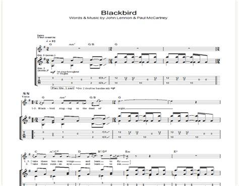 Blackbird Beatles Guitar Chords