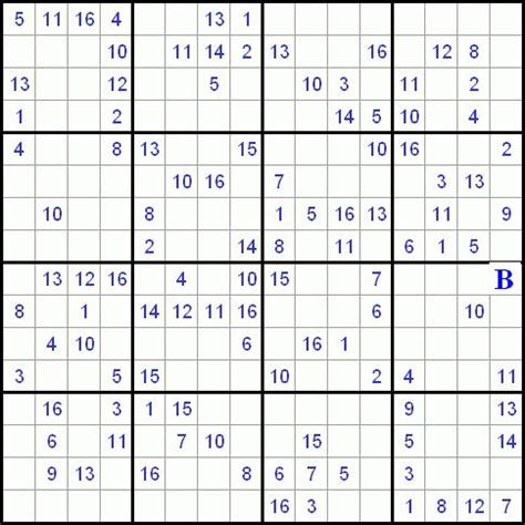 printable 16 number sudoku printable 16x16 sudoku with numbers quotes