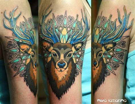 tattoo cover up red deer 64 traditional deer tattoos ideas
