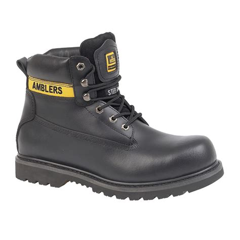 Safety Shoes Country Boots amblers fs9 steel toe cap black safety boots charnwood