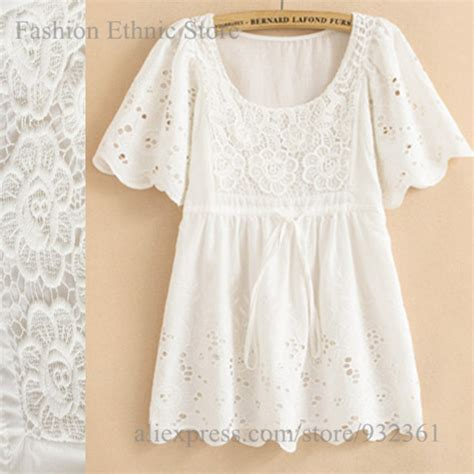 Blouse White Vintage Embriodery aliexpress buy moir vintage floral embroidery white