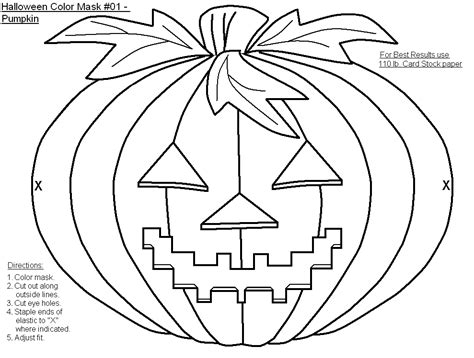 printable halloween masks to color free halloween masks coloring pages