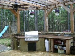 rustic outdoor kitchen voqalmedia