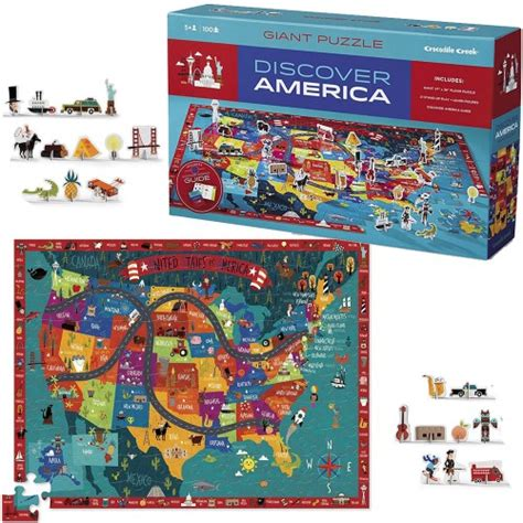 america map puzzle discover america 100 us map puzzle play set