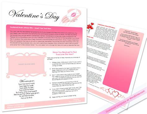 valentines newsletter template s day newsletter by worddraw on deviantart