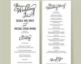 wedding reception programs templates wedding reception program template template design