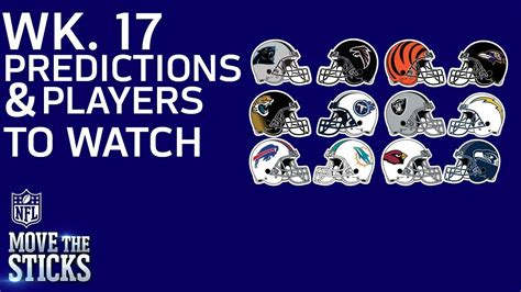 nfl game picks players to watch in week 17 games with