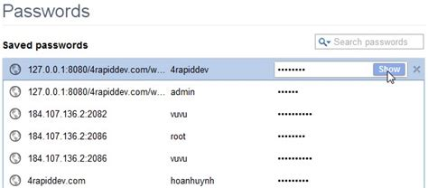 chrome saved passwords view saved passwords in google chrome 4 rapid development