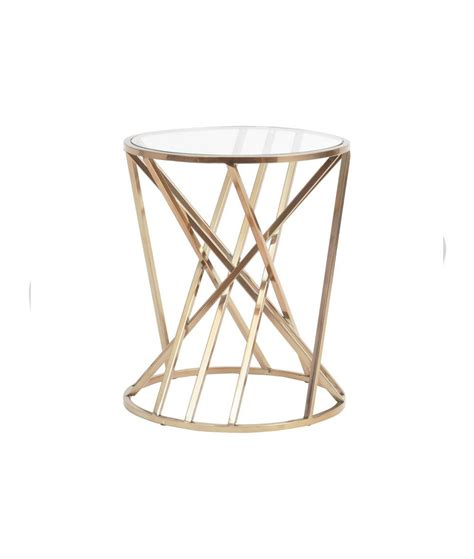 Copper Side Table Copper Twist Side Table Oliver Matthews