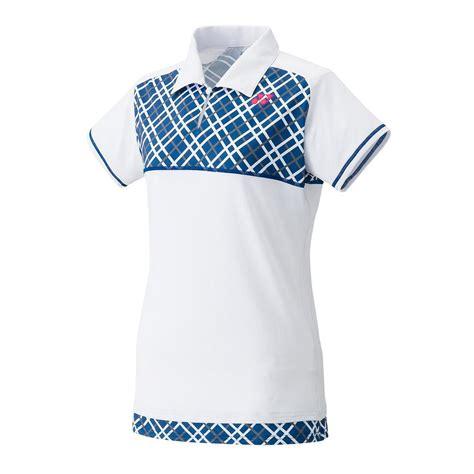 Blouse White Viera yonex womens melbourne polo shirt white navy tennisnuts
