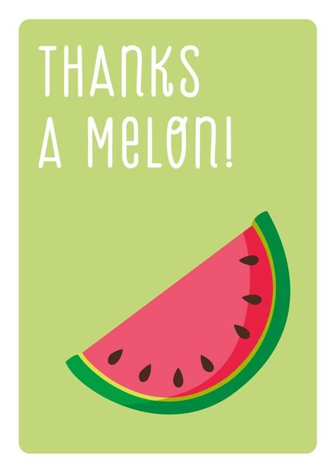 cantaloupe pun 46 best thank you cards at the art mob images on pinterest