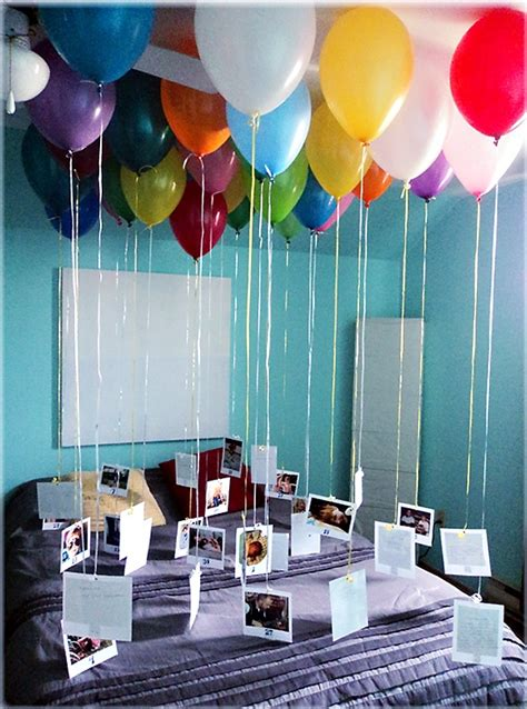 how many balloons to fill a room fill 30 balloons with helium attach a ribbon with a photo for each year of the person s at