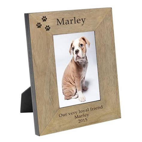 puppy picture frames personalised paw print pet photo frame by chalk cheese notonthehighstreet