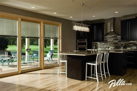 Kitchen Patio Doors Pella 174 Designer Series 174 Patio Door Transitional Kitchen Cedar Rapids By Pella Windows