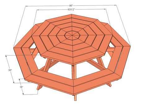 plans for building a octagon picnic table furnitureplans