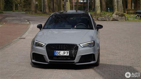 Audi Rs3 Grau by Audi Rs3 Sportback 8v 12 April 2016 Autogespot