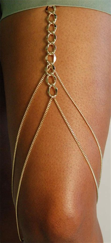 Leg Chain Jewelry Gold Or Silver
