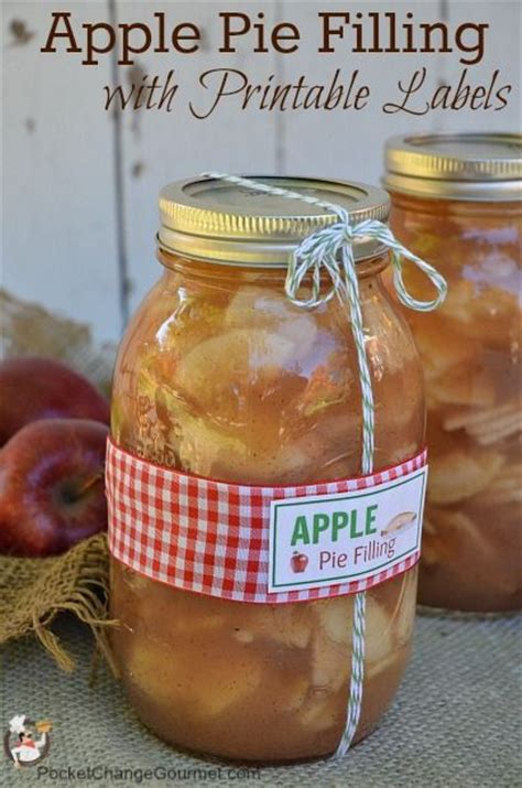check out canned apple pie filling it s so easy to make jars apples and jar labels