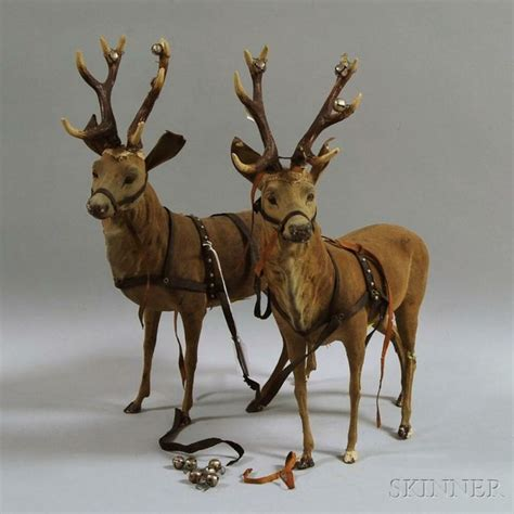 pair of papier mache reindeer deer me pinterest