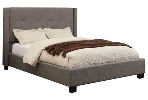 upholstered king platform bed damon ii eastern king upholstered platform bed living spaces