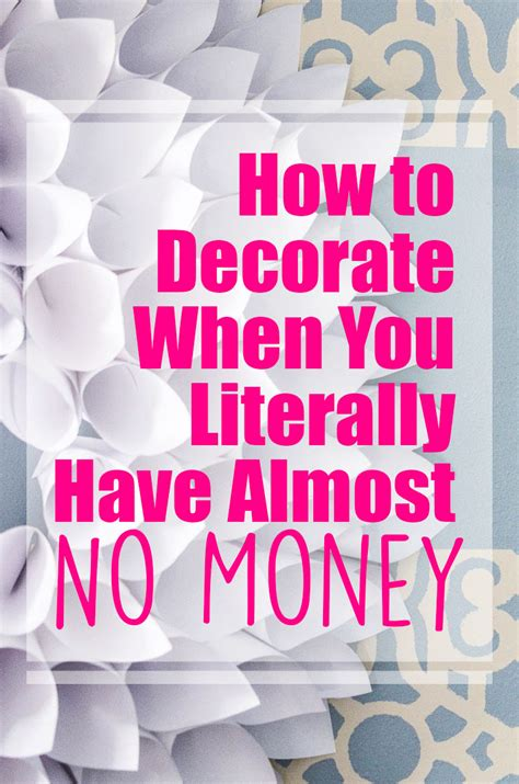 How Decorate Home how to decorate on a tight budget