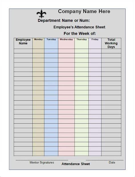 Employee Attendance Sheet Excel 2018 Tracker System Calendar Office Attendance Sheet Template Excel For Employee