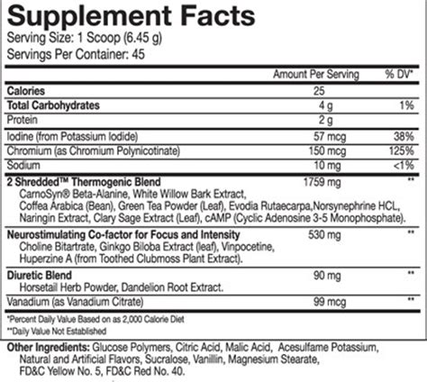 g fuel supplement facts g fuel nutrition facts