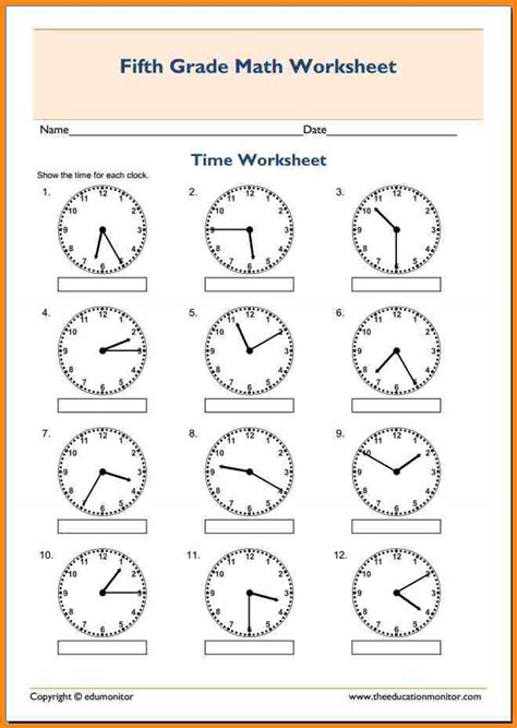 5th Grade Math Worksheet by 7 5th Grade Math Worksheets Media Resumed