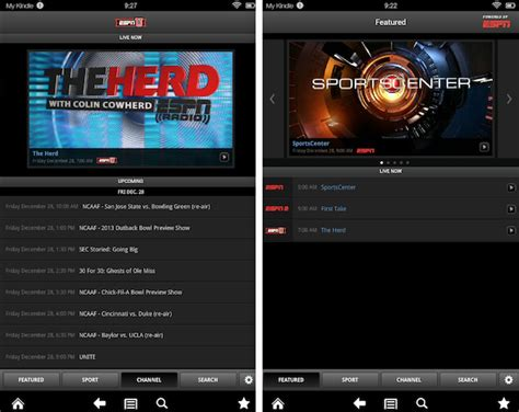 is kindle an android device watchespn now available on kindle android devices espn front row
