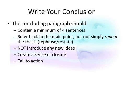 What To Write In The Conclusion Of An Essay by Writing Process Ppt And Assignment