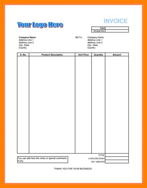 Resume Sample Introduction by 8 Invoice Bill Format In Excel Emt Resume