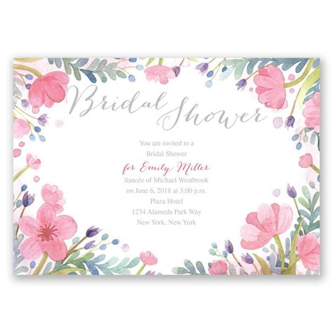 Floral Bridal by Pastel Floral Bridal Shower Invitation Invitations By