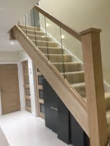 glass banisters for stairs 60 best images about stairs on wood handrail