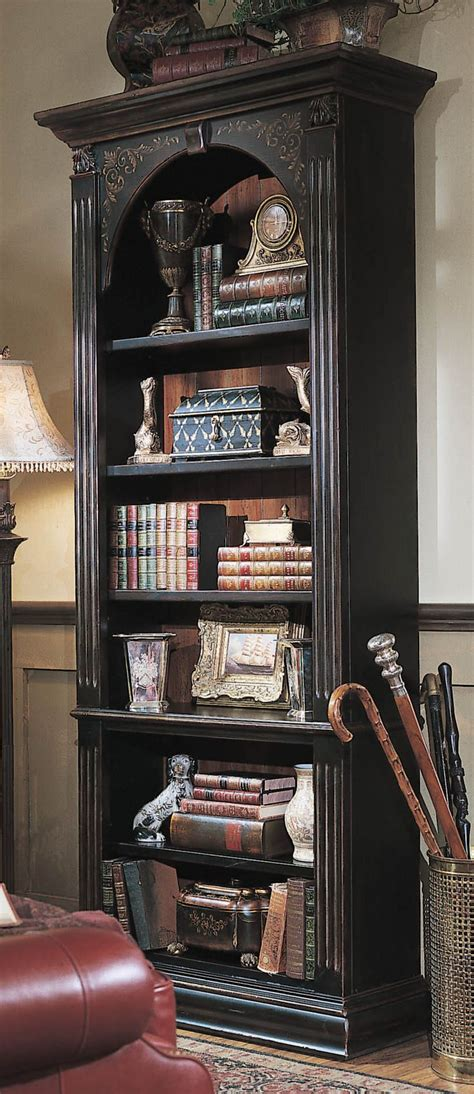 black bookshelf with hooker furniture brown seven seas 85 quot h black bookcase
