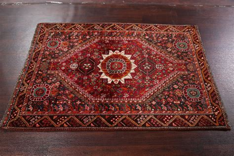 clearance geometric foyer size 4x5 shiraz persian oriental antique geometric tribal 4x5 ghashghaei qashqai shiraz