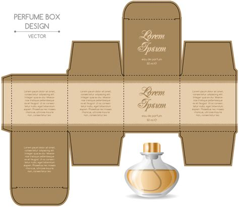 cologne box template perfume box packaging template vectors material 07