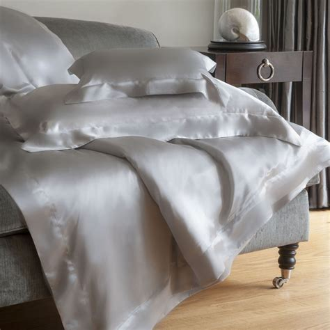 grey silk comforter buy gingerlily silk duvet cover silver grey amara