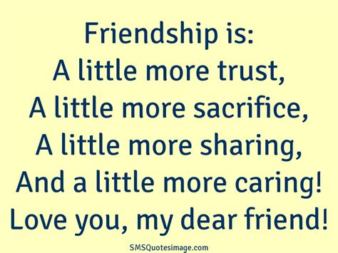 love you my dear friend   friendship   sms quotes image