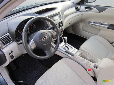 ivory interior 2009 subaru impreza outback sport wagon