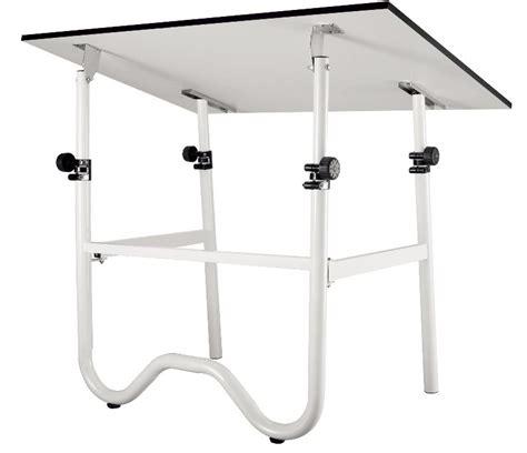 24x36 Onyx Folding Drafting Table White Base Adjustable Folding Drafting Table