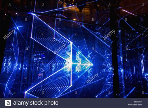 blue and white laser lights abstract rays futuristic blue background texture blue
