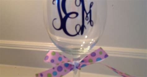 Engraved Barware Monogram Wine Glasses Custom And Personalized By