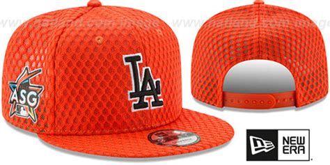 dodgers 2017 mlb home run derby snapback orange hat by new