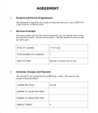 template for service level agreement service level agreement template 15 free word pdf