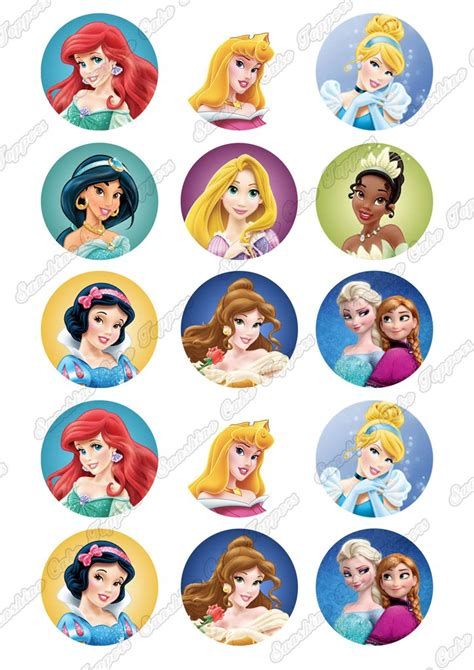 Topper Cake Topper Cupcake Disney Princess disney princess 2 quot cupcake toppers x 15 cake