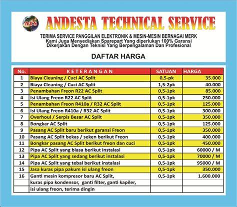 Service Ac Bintaro by Daftar Harga Jasa Service Ac Di Bintaro Jaya Termurah